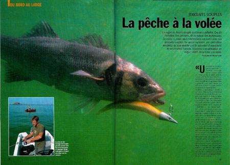 Leurre souple : pêche à la volée