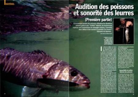 Pêche en Mer 302 - Audition des poissons et sonorité des leurres