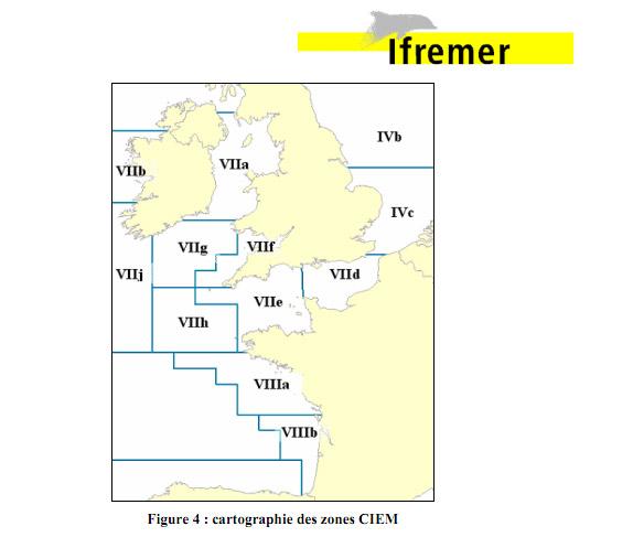 Figure 4 : cartographie des zones CIEM