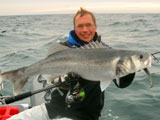 Seabass European record on an intermediary line